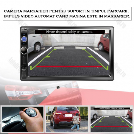 [KIT] MP5 Player pentru FORD, WinCE, Bluetooth, USB, CardSD, Camera Marsarier, Auxiliar, Mirrorlink, Touchscreen, - AD-BGPFORD7010B1