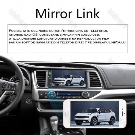 [KIT] MP5 Player pentru FORD, WinCE, Bluetooth, USB, CardSD, Camera Marsarier, Auxiliar, Mirrorlink, Touchscreen, - AD-BGPFORD7010B2