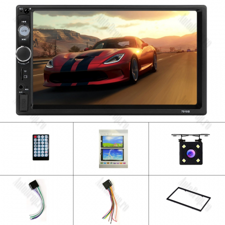 [OFERTA] MP5 Player DVD 2DIN Universal, WinCE, Bluetooth, USB, CardSD, Camera Marsarier, Auxiliar, Mirrorlink, Touchscreen, - AD-BGP7010b3
