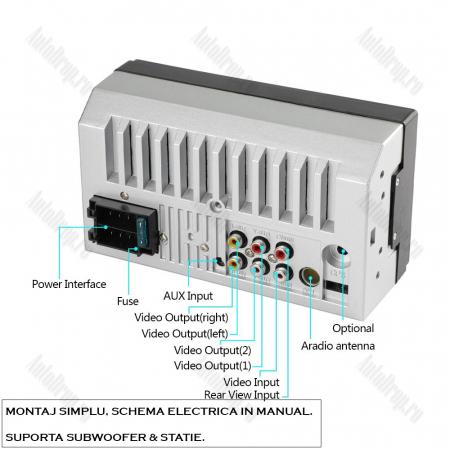 [OFERTA] MP5 Player DVD 2DIN Universal, WinCE, Bluetooth, USB, CardSD, Auxiliar, Mirrorlink, Touchscreen - AD-BGP7010b6