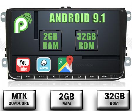 Navigatie VW, Seat, Skoda, Android 9, AD-BGPVW9MTK2GB [0]