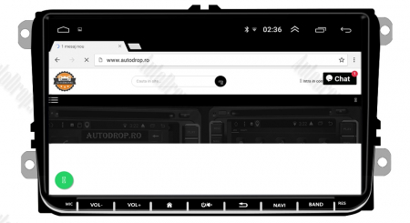 [Pachet] Navigatie Skoda Octavia 2 Facelift, Android 8.1, QUADCORE|MTK| / 2GB RAM + 32GB ROM, 9 inch - AD-BGPVW9SKMTK2GB14