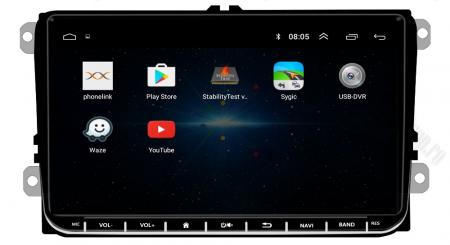[Oferta] Navigatie Volkswagen, Skoda, Seat, Android 9.1, QUADCORE|MTK| / 1GB RAM + 16GB ROM, 9 inch - AD-BGPVW9MTK3