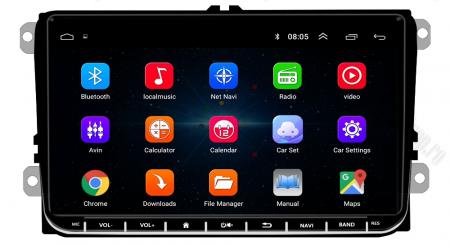 [Oferta] Navigatie Volkswagen, Skoda, Seat, Android 9.1, QUADCORE|MTK| / 1GB RAM + 16GB ROM, 9 inch - AD-BGPVW9MTK2