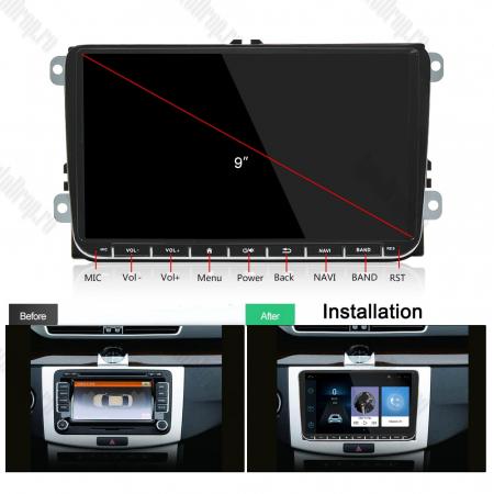 [Oferta] Navigatie Volkswagen, Skoda, Seat, Android 9.1, QUADCORE|MTK| / 1GB RAM + 16GB ROM, 9 inch - AD-BGPVW9MTK16