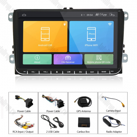 [Oferta] Navigatie Volkswagen, Skoda, Seat, Android 9.1, QUADCORE|MTK| / 1GB RAM + 16GB ROM, 9 inch - AD-BGPVW9MTK14