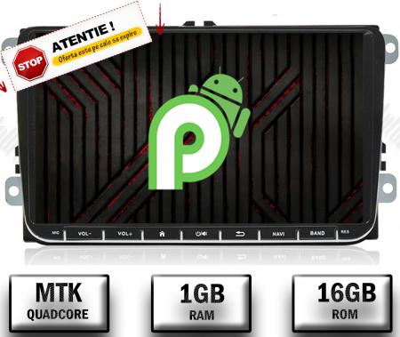 [Oferta] Navigatie Volkswagen, Skoda, Seat, Android 9.1, QUADCORE|MTK| / 1GB RAM + 16GB ROM, 9 inch - AD-BGPVW9MTK0