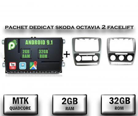 Navigatie 2+32GB Skoda Octavia 2 FL + Rama | AutoDrop.ro [0]