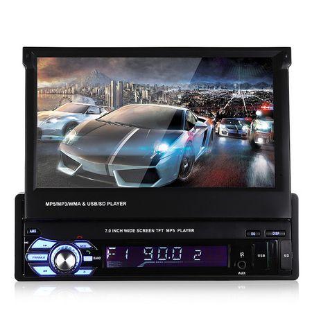 1DIN - MP5 Player cu Ecran de 7 inch Rabatabil MicroSD USB Bluetooth0