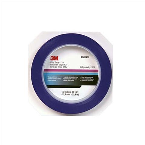 Banda adeziva albastra 471 VFLine blue 3mm x 33m   3M 0