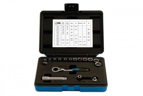 Alldrive Trusă completă tubulare & biți ¼ – 17 piese Laser Tools [0]