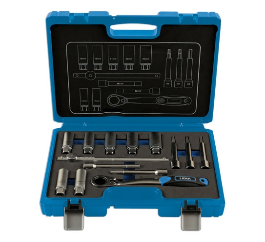 Trusă de scule pentru amortizoare – 14 piese Laser Tools 0