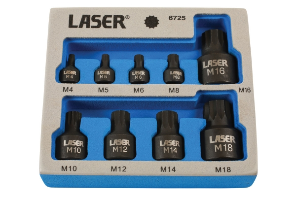 Set biți cu tubulare, profil subțire Laser Tools 0