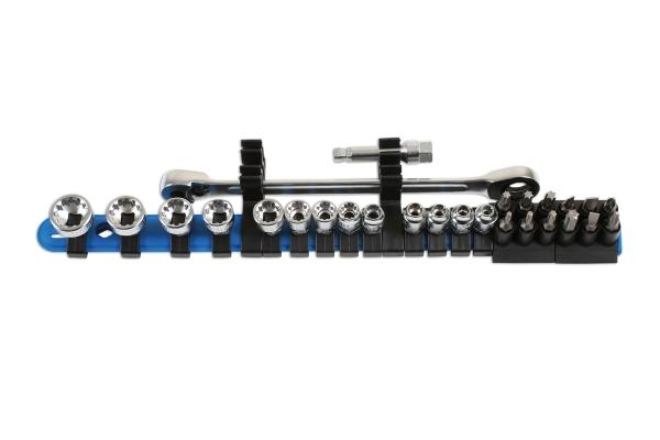 Alldrive Set tubulare și biți, profil subțire – 27 piese Laser Tools [0]