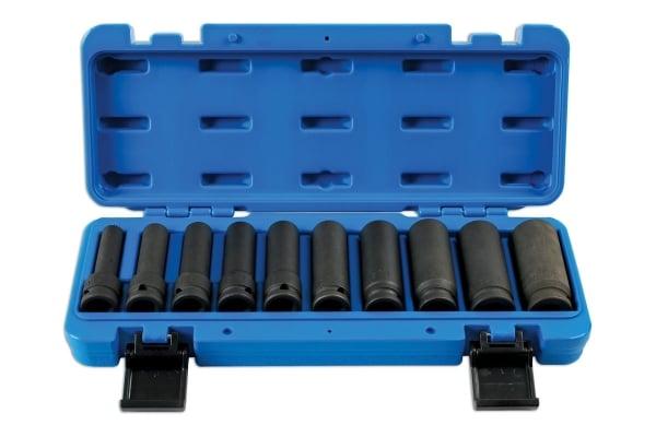 Set tubulare de impact ½, bihexagonale, lungi – 10piese Laser Tools [0]