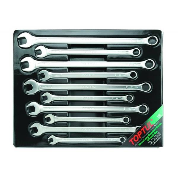 Set 10 chei combinate fixe inelare cotite lungi 10-19mm, Toptul 0