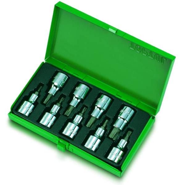 Set 9 bucati torx  1/2 9bucati cutie metalica 1