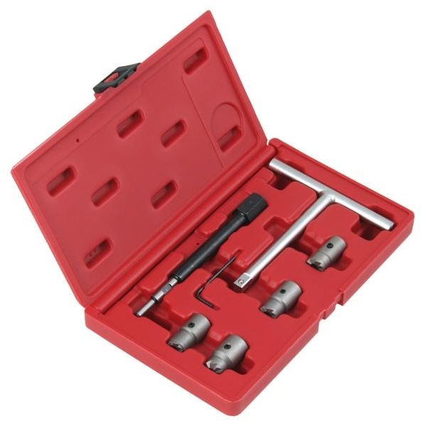 Trusa cu freze pentru curatat orificiu injector diesel, Profitool 9 piese 0