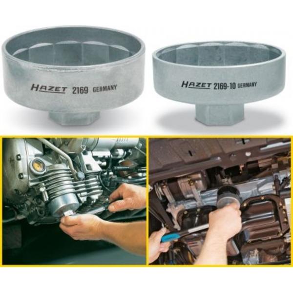Cheie filtre tip cupa 74,4mm, 14 canturi, 3/8inch  Hazet 1