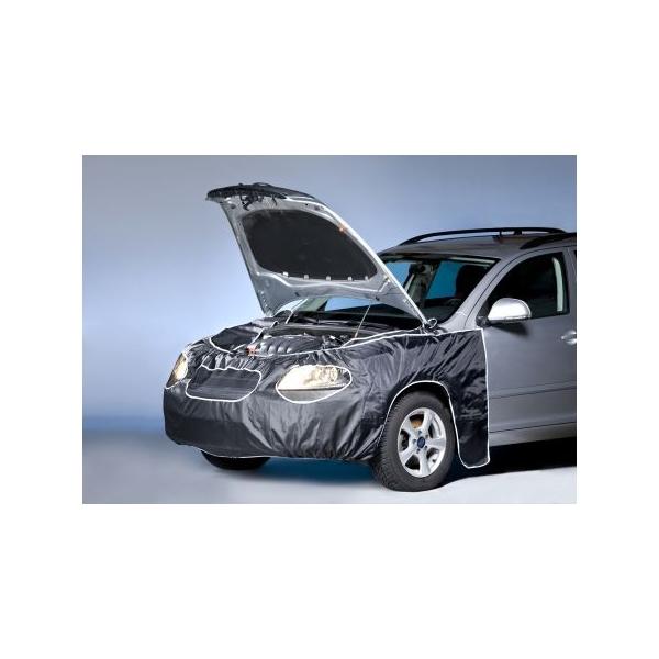 Husa frontala auto 400 x 86 cm negru prindere de oglinzi