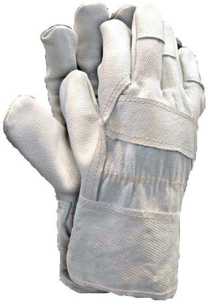 Set 12 perechi manusi protectie piele de inalta calitate captusite interior manseta denim marimea 10.5 ideale constructii industria grea mecanica 0