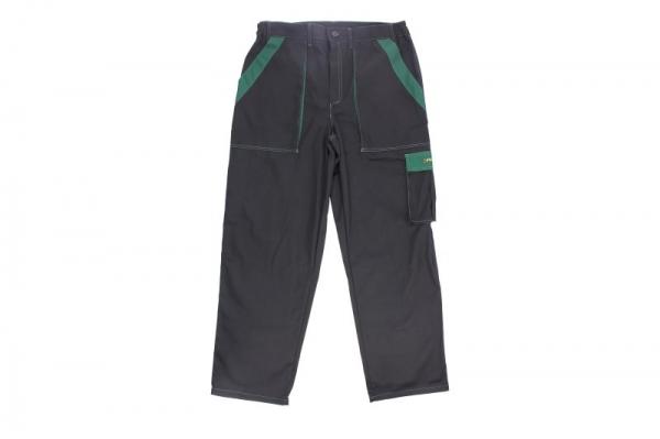Pantaloni lucru negru verde marimea L 260g/m2 [0]