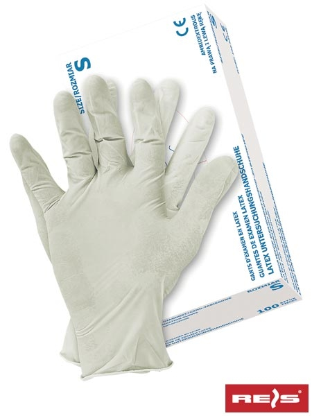 Set 100 manusi din latex albe marimea L cu pulbere [0]