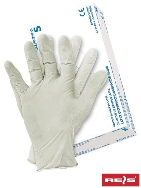 Set 100 manusi din latex albe marimea M cu pulbere [0]