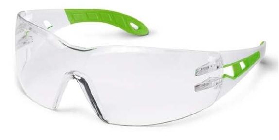 Ochelari protectie UVEX lentile transparente anticondens acoperire HC-AF alb verde [0]