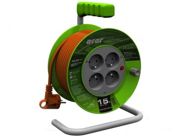 Prelungitor curent 230V tip bobina 15 m cu 4 prize [0]