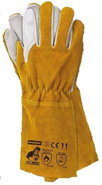 Set 12 perechi manusi protectie sudura piele lungime 35cm galbene [0]