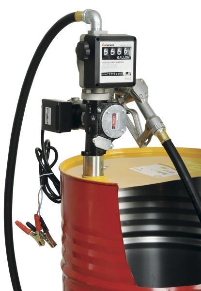 Distribuitor ulei cu pompa electrica 35/70 litri/min 12/24V furtun aspiratie 2 m furtun distributie 4 m cu pistol cu contor 0