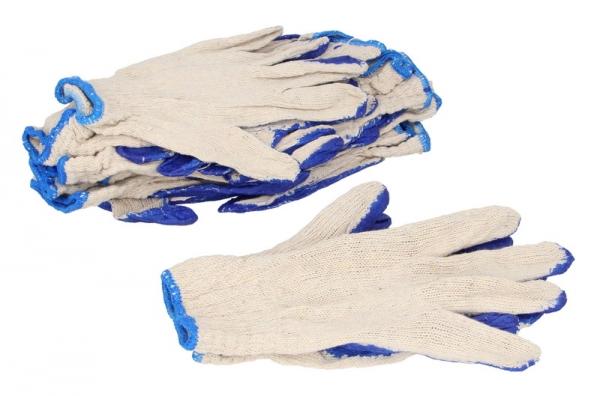 Set 10 perechi manusi marimea XL albastre acoperite cu cauciuc 0