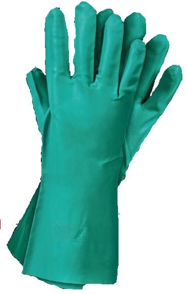 Set 12 manusi protectie marimea XL lungi de cauciuc nitrilic rezistente nitro perfecte curatare pieselor si pistoalelor de vopsit 0