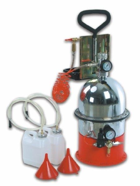 Aparat pneumatic inlocuit lichid frana cu 2 bidoane de 5 litri si palnie [0]