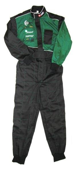 Salopeta lucru combinezon verde negru marimea XL [0]