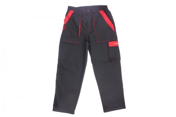 Pantaloni lucru negru rosu maimrea M 260g/m2 [0]