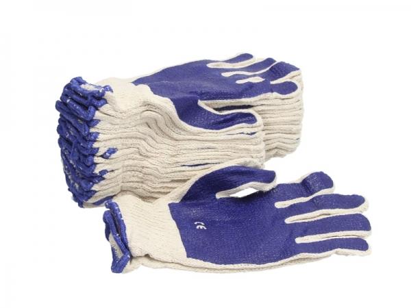 Set 10 perechi manusi tricotate albastru marimea L amestec latex si PVC rezistente acizi detergenti [0]