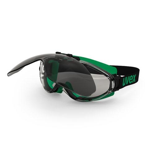 Ochelari protectie Uvex lentile colorate filtru 5 cadru negru verde detasabili [0]