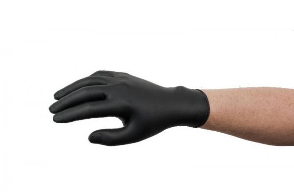 Set 100 manusi cu textura nitril negre marimea L [0]