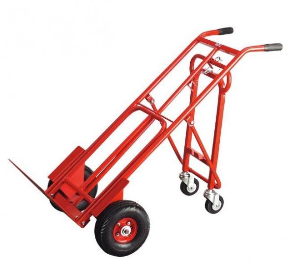 Carucior transportator pliant 3 in 1 250kg roti pneumatice 250x90mm [0]