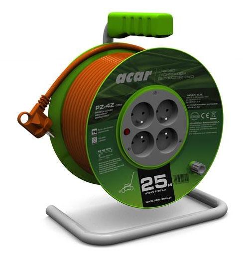 Prelungitor curent 230 V tip bobina 25 m cu 4 prize [0]