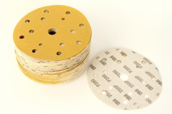 Disc abraziv Hookit P280 galben 100 bucati 0