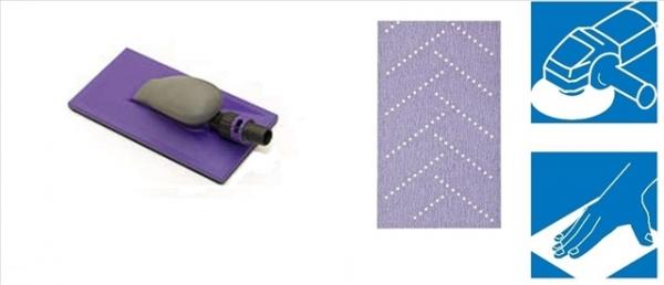 Kit Coli abrazive Hookit Purple Multihole+ Bloc 115x225mm   3M 0