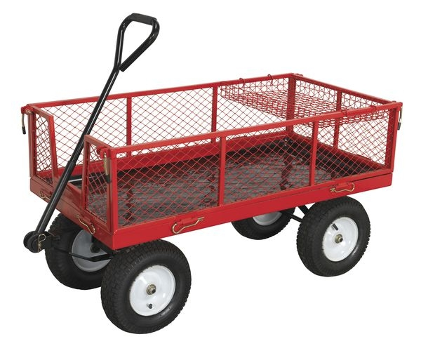 Carucior transportator cu 4 roti incarcare 450kg [0]