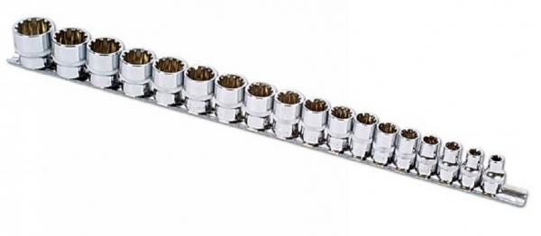 """Alldrive Set tubulare 3/8"""" pe șină – 18 piese Laser Tools 0"""