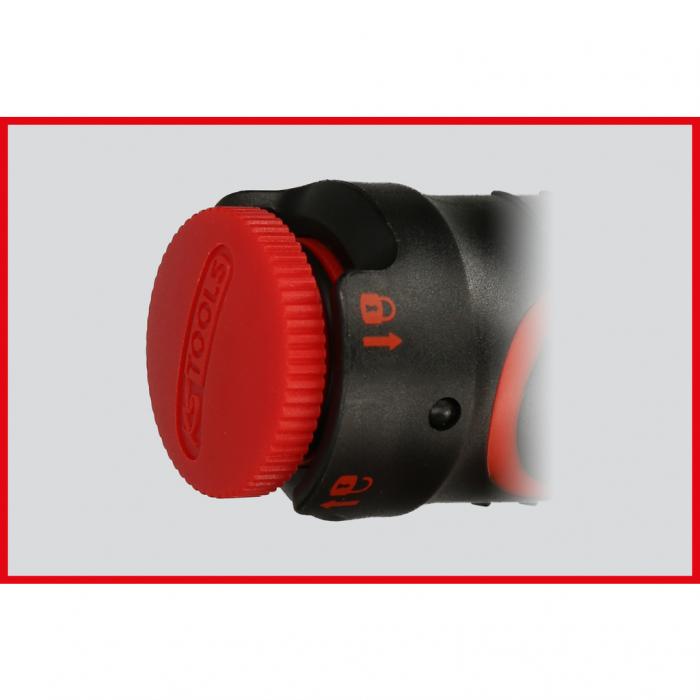 Cheie dinamometrica cu clichet 1/2 ERGOTORQUE precision cu buton rotativ 40-200nm 9