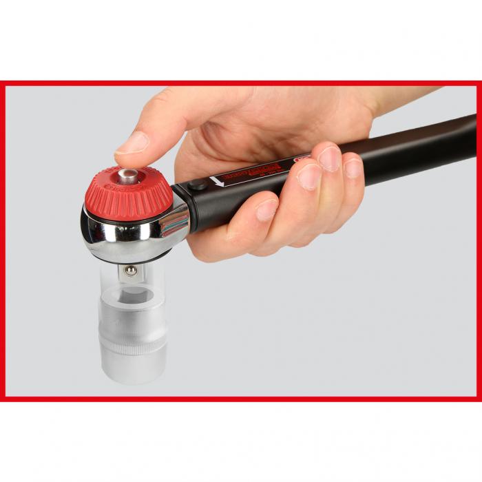 Cheie dinamometrica cu clichet 1/2 ERGOTORQUE precision cu buton rotativ 60-320nm 6