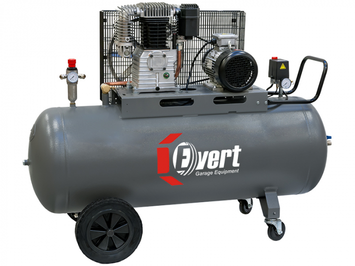 Compresor cu piston Evert, 400V, Putere: 2,2 kW, presiune: 10 bar,Debit: 420 l/min., Rezervor: 100 l, numar pistoane: 2 buc [0]