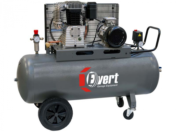 Compresor cu piston Evert 400V, Putere: 4 kW, presiune: 10 bar,Debit: 650 l/min., Rezervor: 200 l, numar pistoane: 2 buc [0]